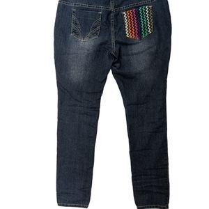 COOGI Jeans Zig Zag Pocket Design